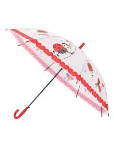 Umbrela fetite rosie cu...