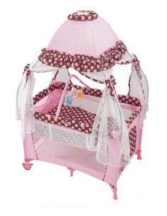 Patut copil design Baldachin roz