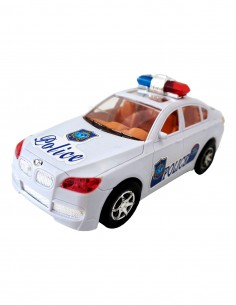 Masina de politie cu lumini...