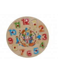 Puzzle educativ , din lemn...