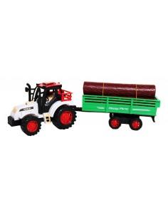 Tractor cu remorca si lemne...
